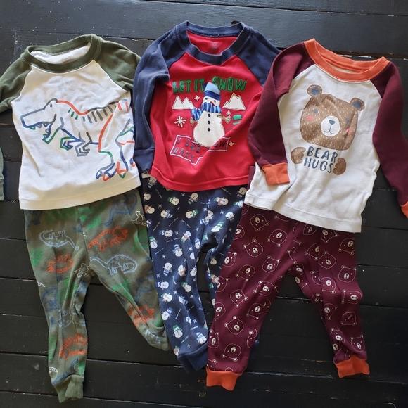 Baby Boy Bundle 3 Pack Pajamas Set 12 Months 2 Pc